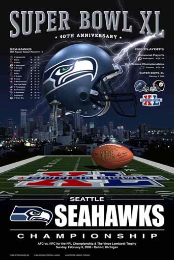seattle seahawks nfc football champions sports poster picture