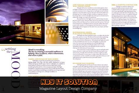 nby  solution magazine layout design