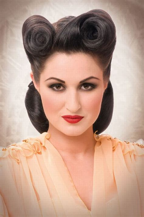 middy length hairstyles rockabilly hairstyles pinterest vintage