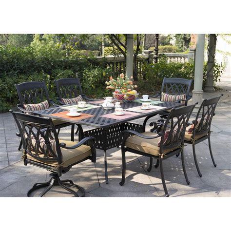 darlee san marcos 7 piece outdoor dining set