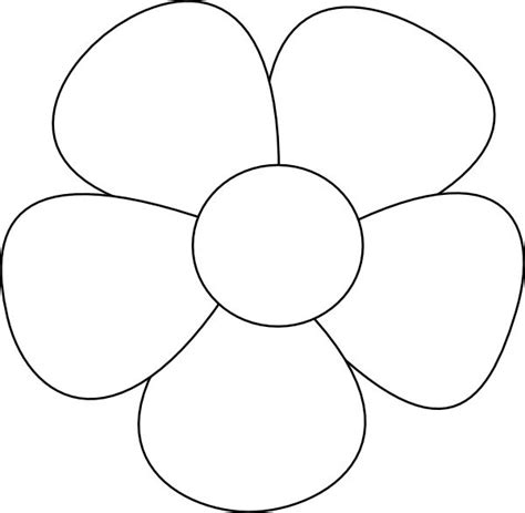 Flower Template 5 Petals by Templates Clipart Flower Pencil And In Color Templates