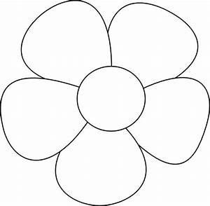 templates clipart flower pencil and in color templates With flower template 5 petals