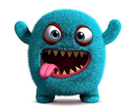 Blue Space Background Hd Cute Monster Wallpaper Wallpapersafari
