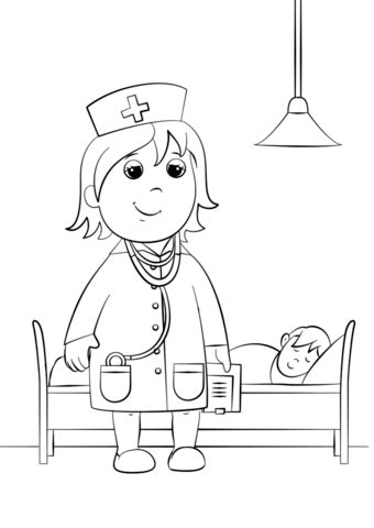 woman doctor coloring page  printable coloring pages
