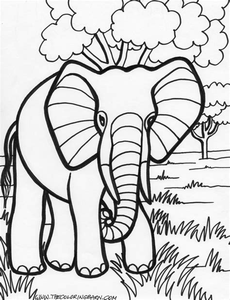 elephant coloring page google search vbs elephant
