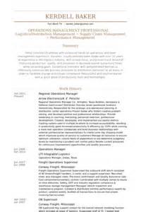 curriculum vitae operations manager regional operations manager resume sles visualcv resume sles database