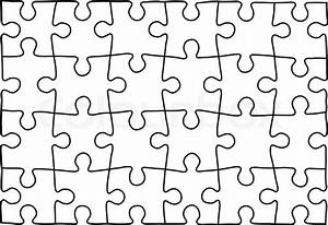 Puzzle Template  Background For Your Business Presentation