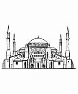Coloring Medieval Istanbul Hagia Sophia Architecture Drawing Ayasofya Sheets Church Mosque Churches Sofia Fantasy Turkey Pages Draw Perspective Roman sketch template