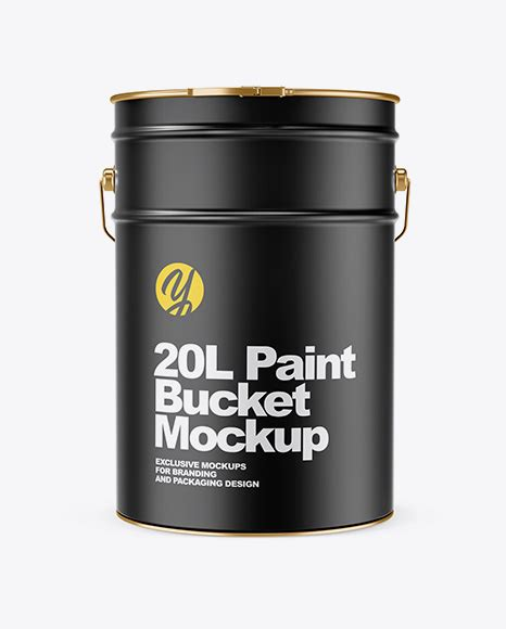 High quality paint bucket tin mockup, easy to use and fully editable mockup. 20L Matte Paint Bucket Mockup in Bucket & Pail Mockups on ...
