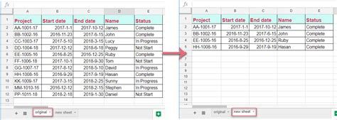 how to copy row to another sheet based on cell value in google sheet