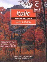 italic handwriting  images handwriting books