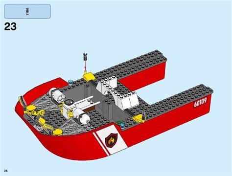 Lego Batman Boat Instructions by Lego Fire Boat Instructions 60109 City