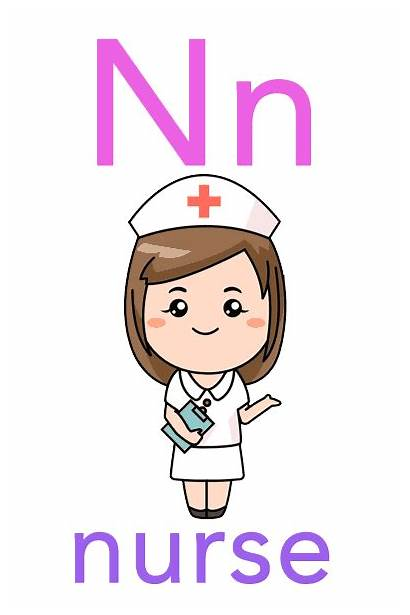 Flashcards Alphabet Nurse Children Flashcard Abc Mozart