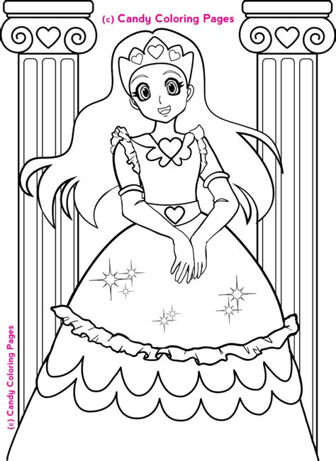 coloring pages  princess coloring pages penny candy