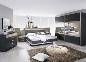 chambre adulte complete contemporaine gris chene clair With deco chambre adulte contemporaine