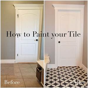 How to paint your tile remingtonavenueblogspotcom for How to tile over existing floor tiles