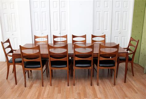 Dining Room Table And Chairs by Walnut Dining Room Table Ten Chairs