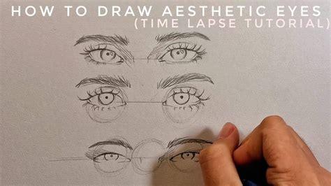 draw aesthetic eyes jdarts  youtube