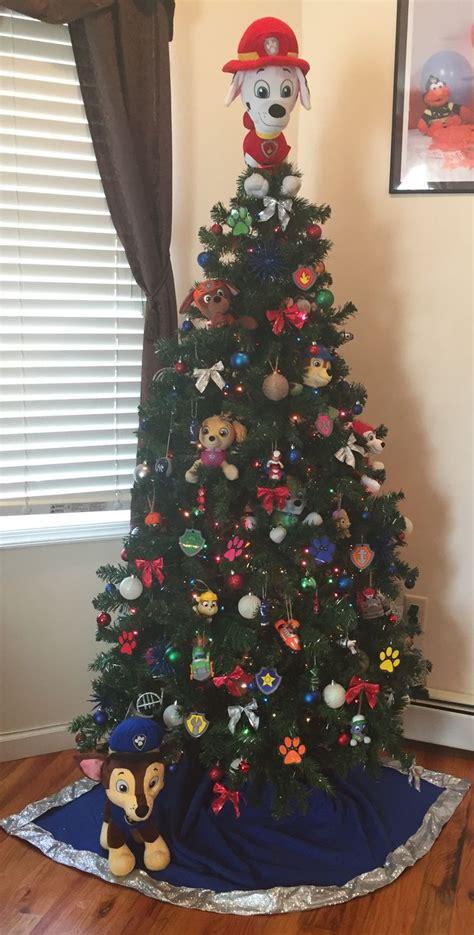 paw patrol christmas tree christmas tree decorations christmas tree themes cute christmas tree