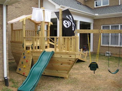 Pirate Ship Backyard Playset by Pirate Ship Playground How Awesome Would This Be