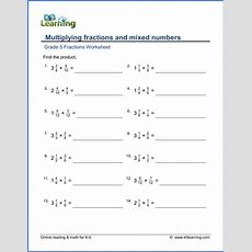 Grade 5 Multiplication & Division Of Fractions Worksheets  Free & Printable  K5 Learning