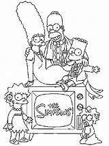 Simpson Colorear Imagenes Coloring Simpsons sketch template
