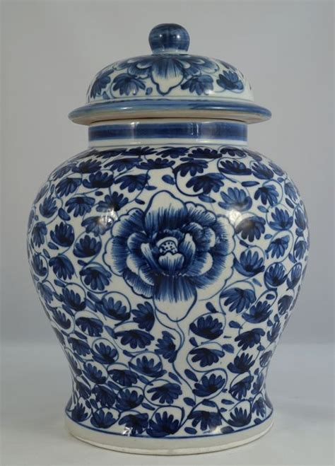 Large Vase With Lid by Large Baluster Lid Vase With Classic Floral Decor China