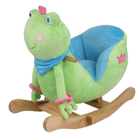 prince frog baby animal lullaby musical rocking chair seat