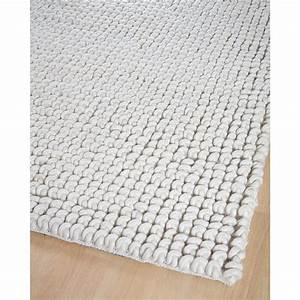 tapis home spirit en laine ecru romy 200x300 With tapis tressé laine