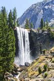 Mist Vernal Falls Yosemite Park California Stock