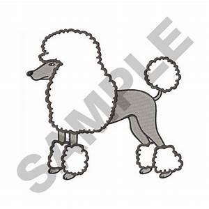 large poodle applique embroidery design annthegran With poodle applique template