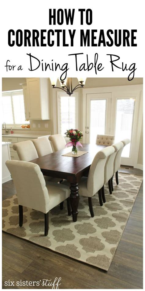 correctly measure   dining room rug
