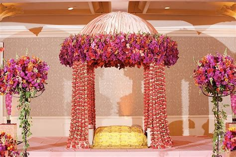 Floral Red Curtains by Wedding Mandap Decor Inspiration Theknotstory