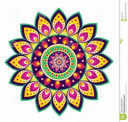 Mandala Flower Pattern Floral Clipart Colourful Vector
