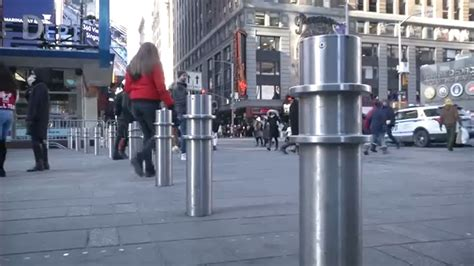 nyc install barriers sidewalks