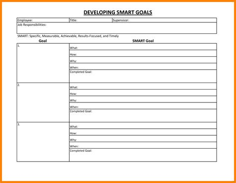 smart goal template word smart goals template essential depiction goal worksheet personal 5 marevinho