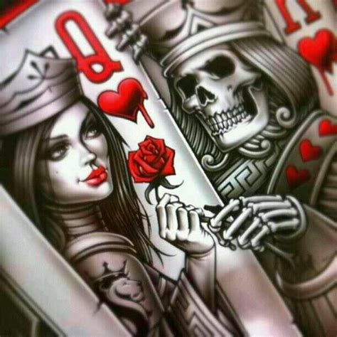 Sweet greens and blues are pushing up from the winter grays in booths around the queen of hearts alpharetta. King and Queen Card Tattoos | King & Queen of Hearts ...