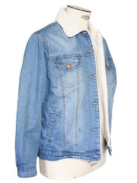 veste en jean troué veste en jean fourr 233 e femme