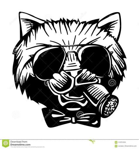 gangster mafia feline cat criminal character portrait