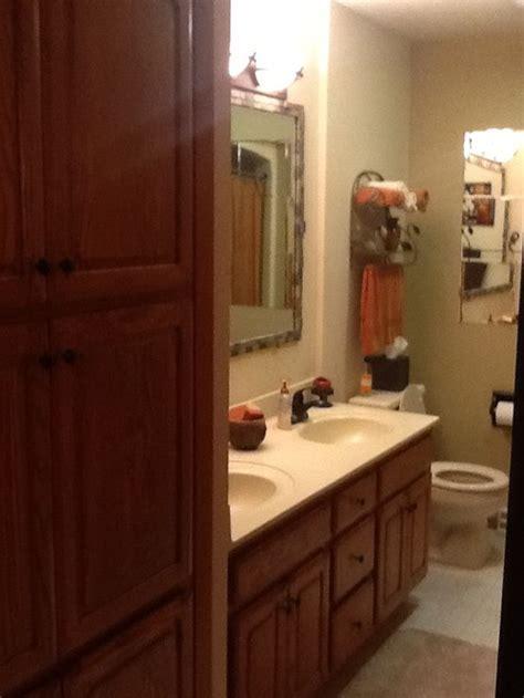 Narrow bathroom design help