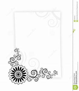 Paper letter frame stock illustration image of frame for Letter paper frame