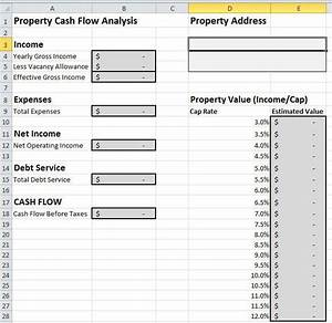 rental cash flow analysis spreadsheet for excel With global cash flow analysis template