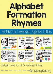 lowercase alphabet formation rhymes teaching mama With teaching kids letters