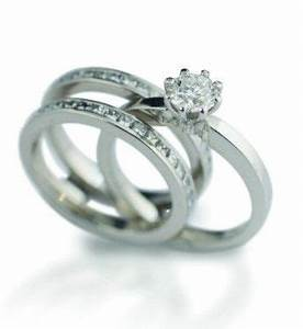 dacapo 39octet39 engagement ring with double diamond wedding With engagement ring with double wedding band