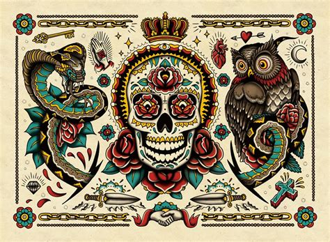tattoo coloring book  awesomer