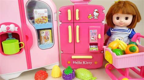 baby doll refrigerator kitchen toys baby doli play youtube