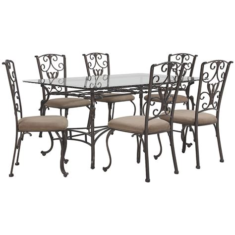 glass table with 4 chairs westcot2 rect glass table 4 chairs