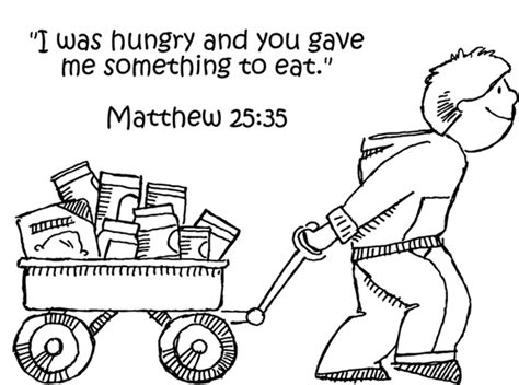 disegni da colorare hunger feeding the hungry coloring page