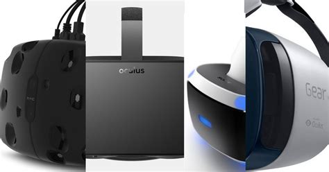 android vr specs comparison playstation vr oculus rift htc vive