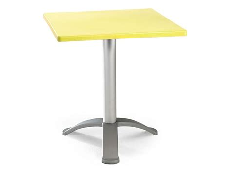 table 60x60 cuisine square table with anodized aluminum base idfdesign